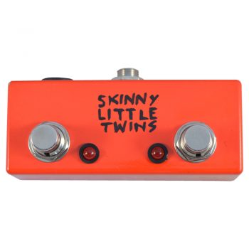 Skinny Little Twins Dual Latching Footswitch with LEDs Face