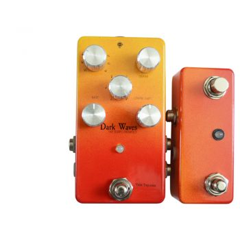 Dark Waves Tap Tempo Tremolo Pedal v2.0 with Controller Face